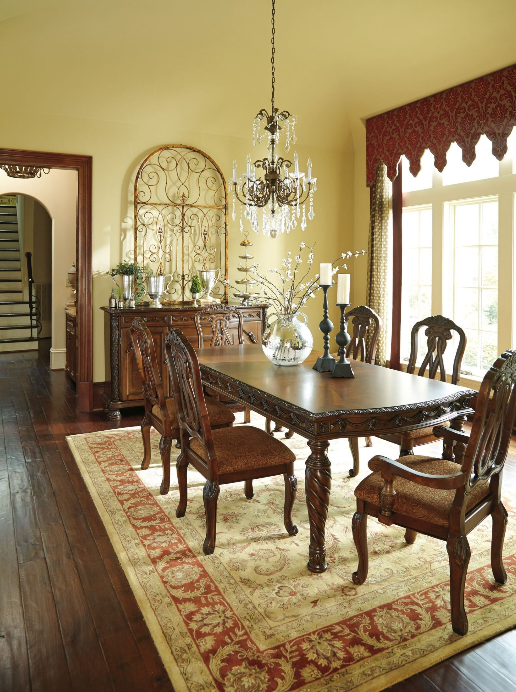 North Shore Rectangular Extendable Dining Room Set From Ashley D553 35 Coleman Furniture