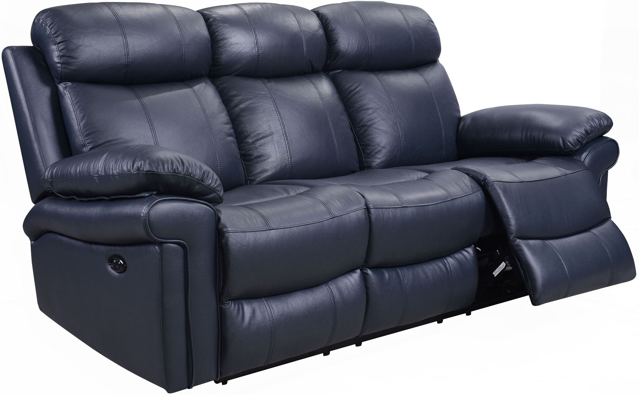 Navy Blue Reclining Sofa