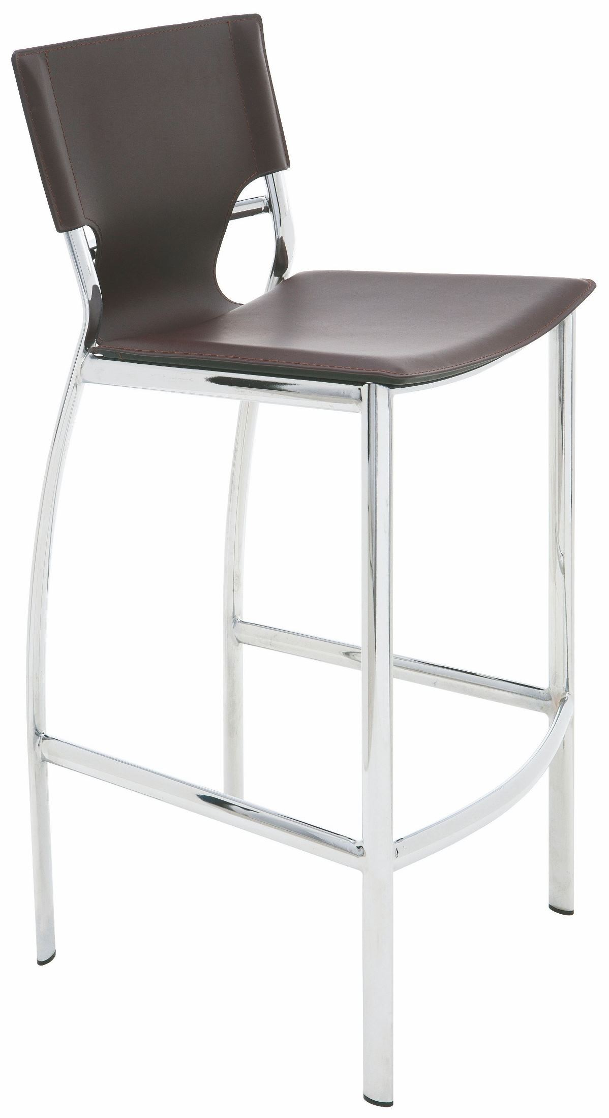 Lisbon Brown Leather Counter Stool From Nuevo Coleman