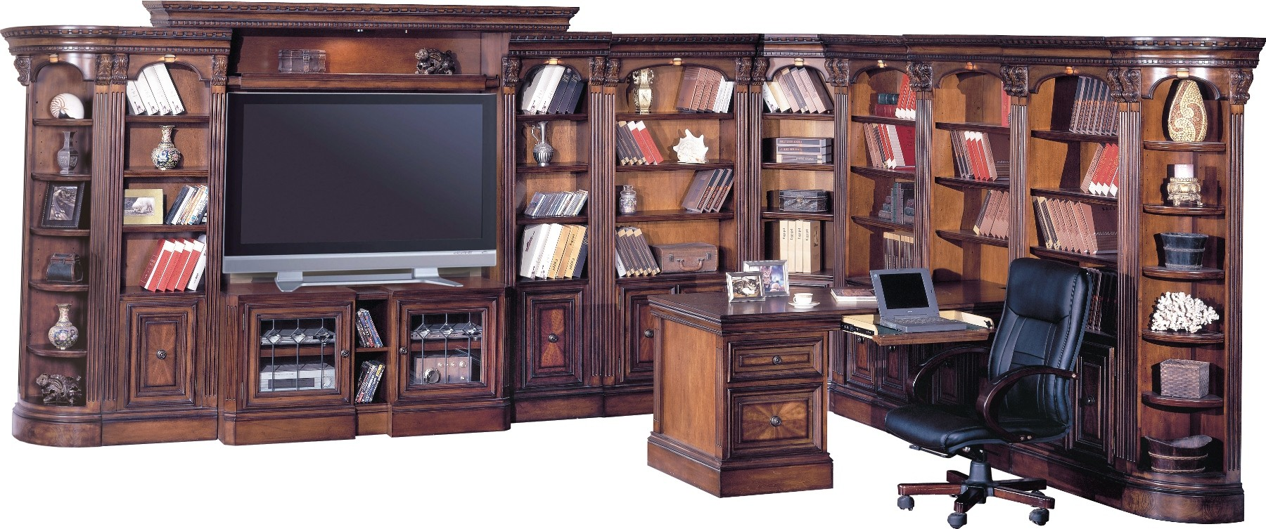 Huntington Large L Shape Entertainment Wall Unit From