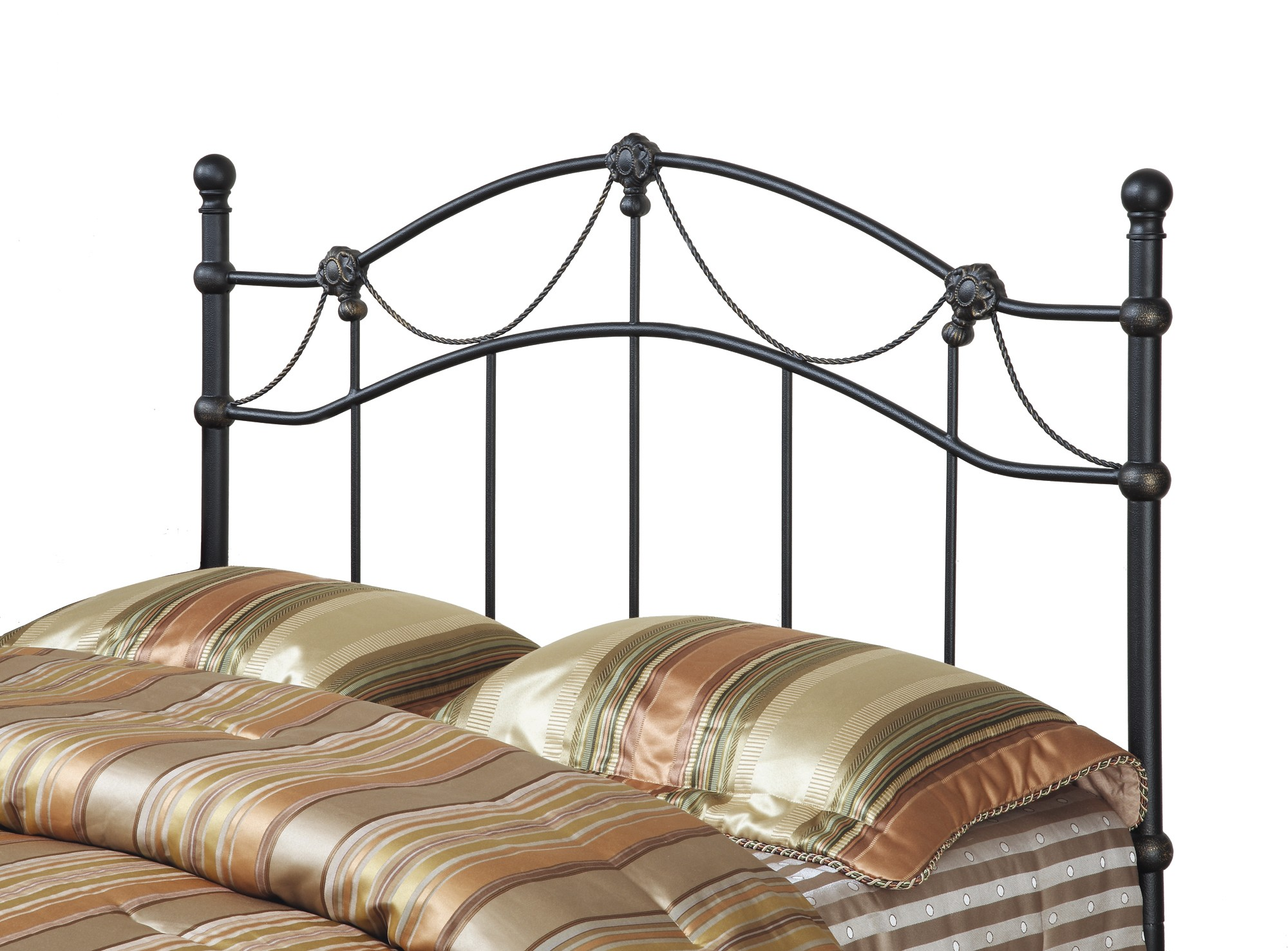 2621Q Hammered Black Queen/Full Size Metal Headboard