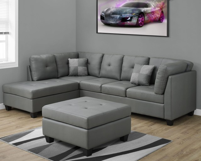 Image Result For Light Grey Leather Sectional Sofa