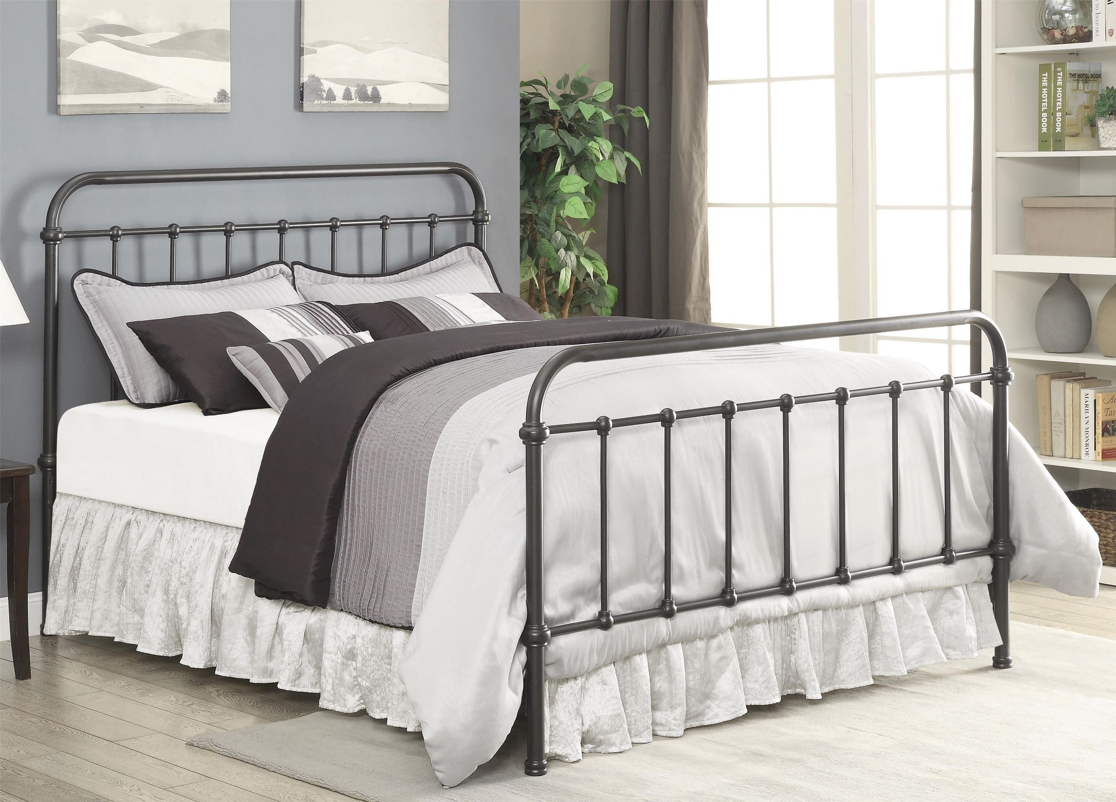 Livingston Dark Bronze Queen Metal Bed From Coaster