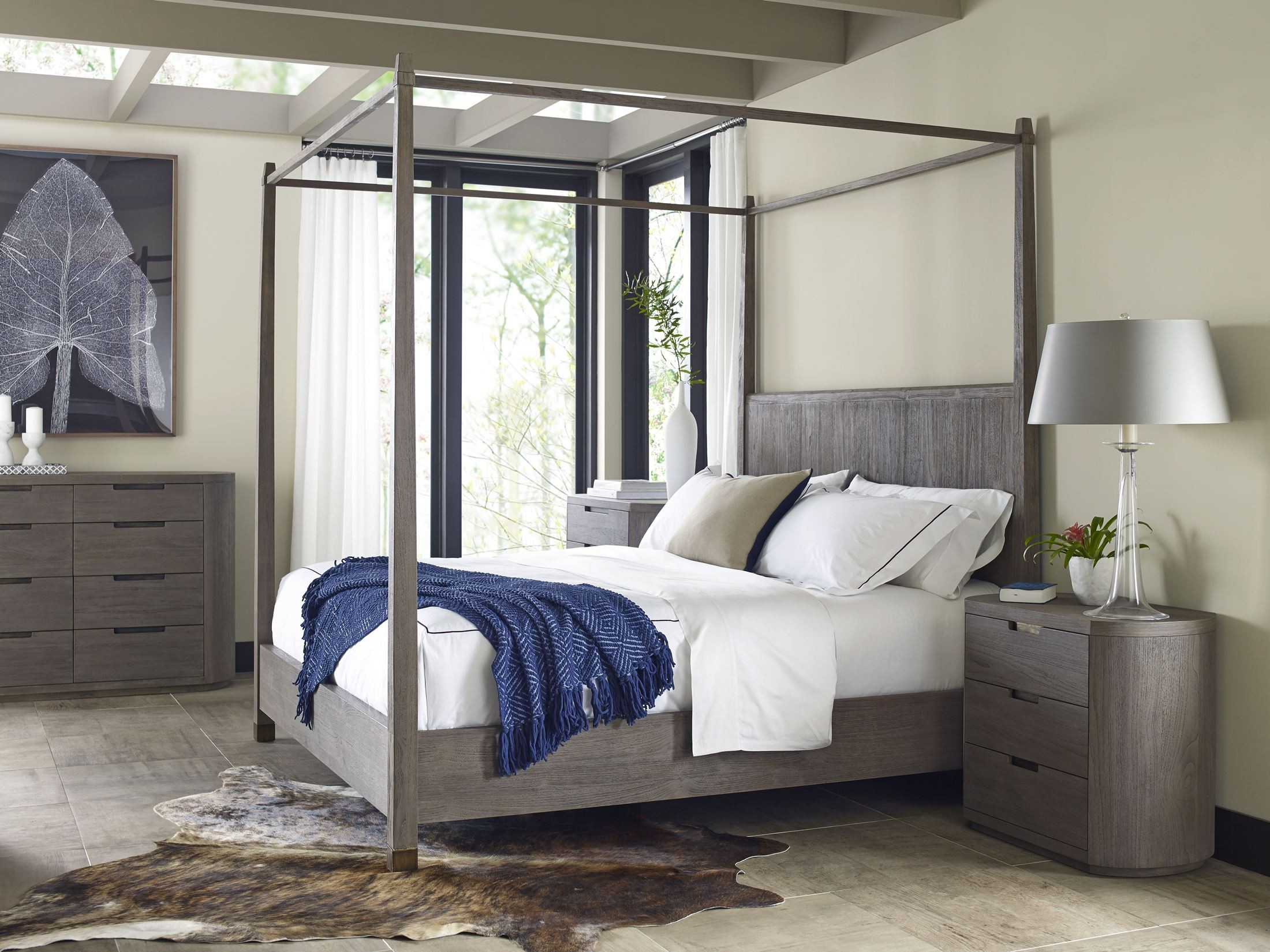 Palmer King Canopy Bed From Brownstone Pl006