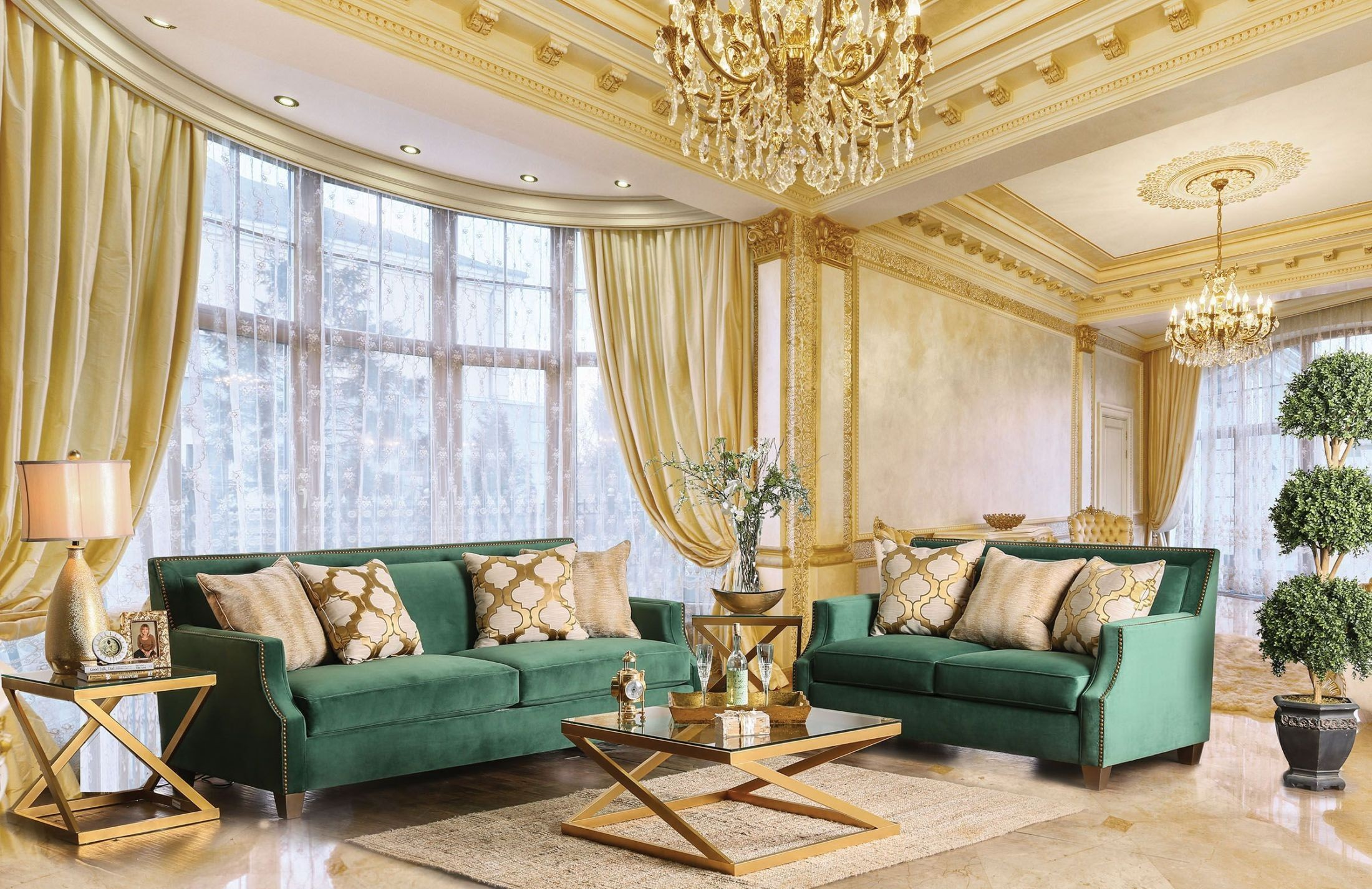 Green Living Room Set