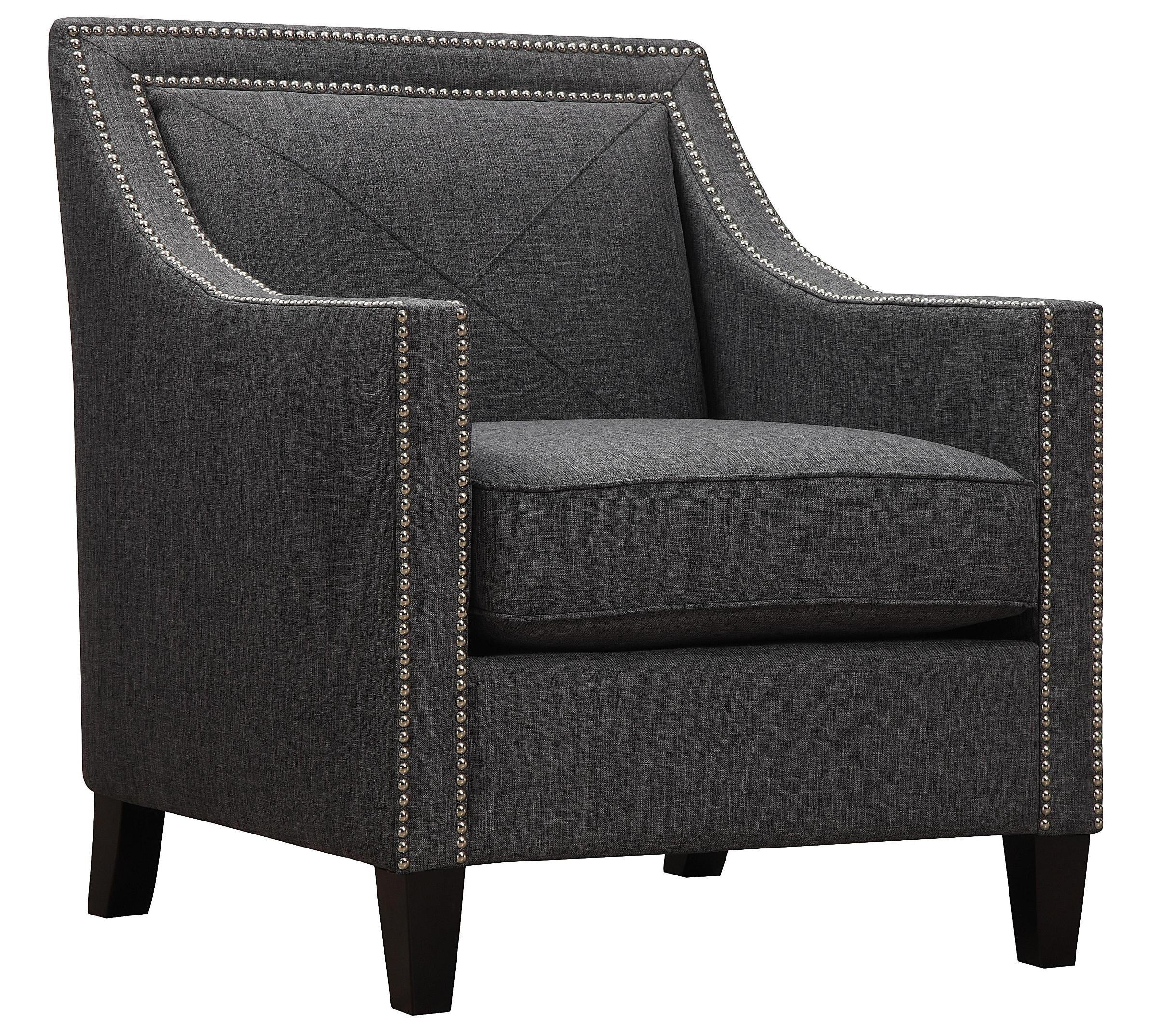 Asheville Dark Grey Linen Chair From Tov A51