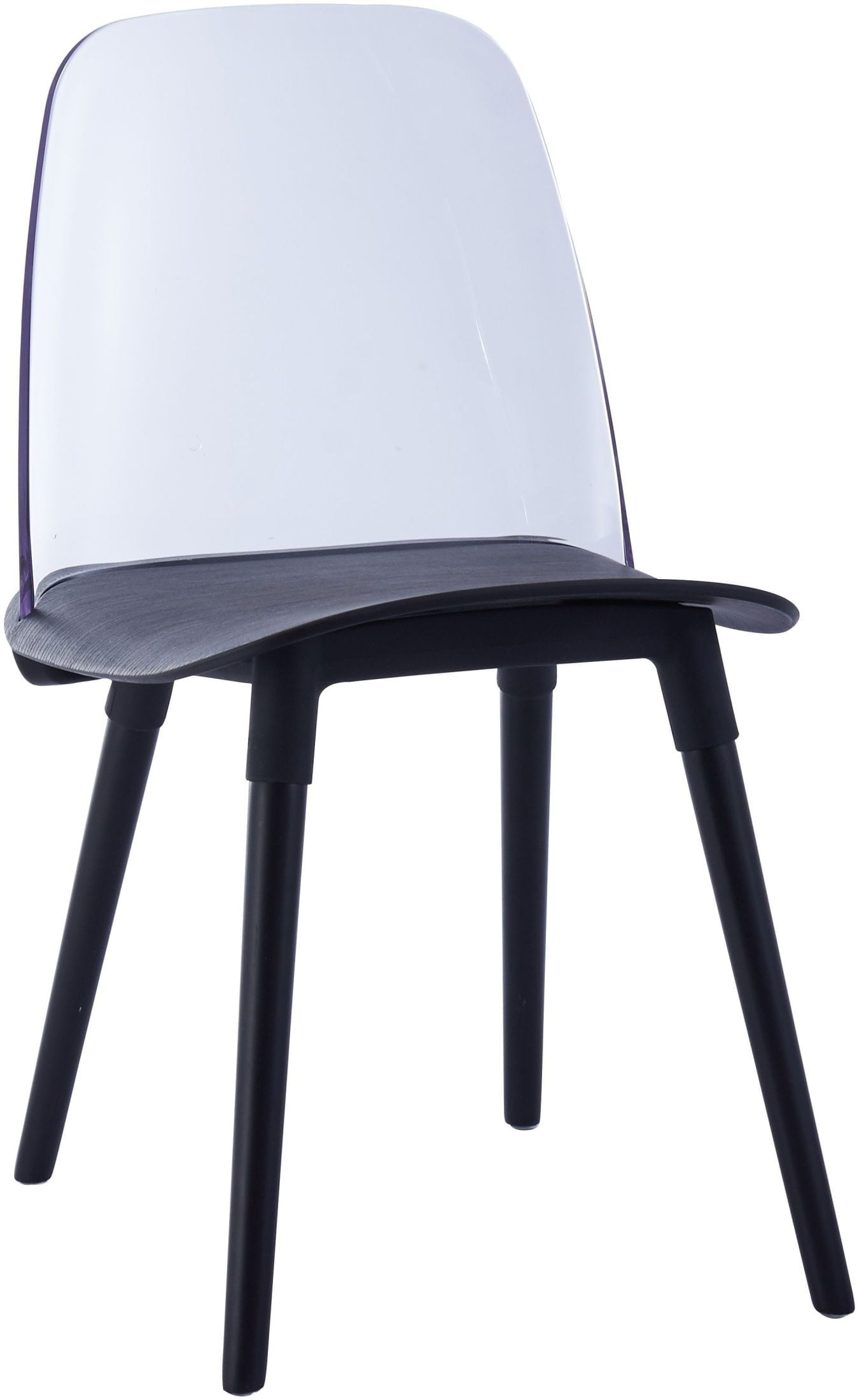 Pasha Black Acrylic Chair Set Of 2 From Tov