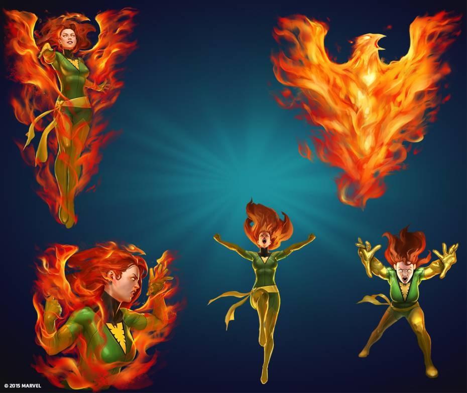 "Marvel Puzzle Quest bổ sung ""Phượng Hoàng lửa"" Jean Grey Phoenix"
