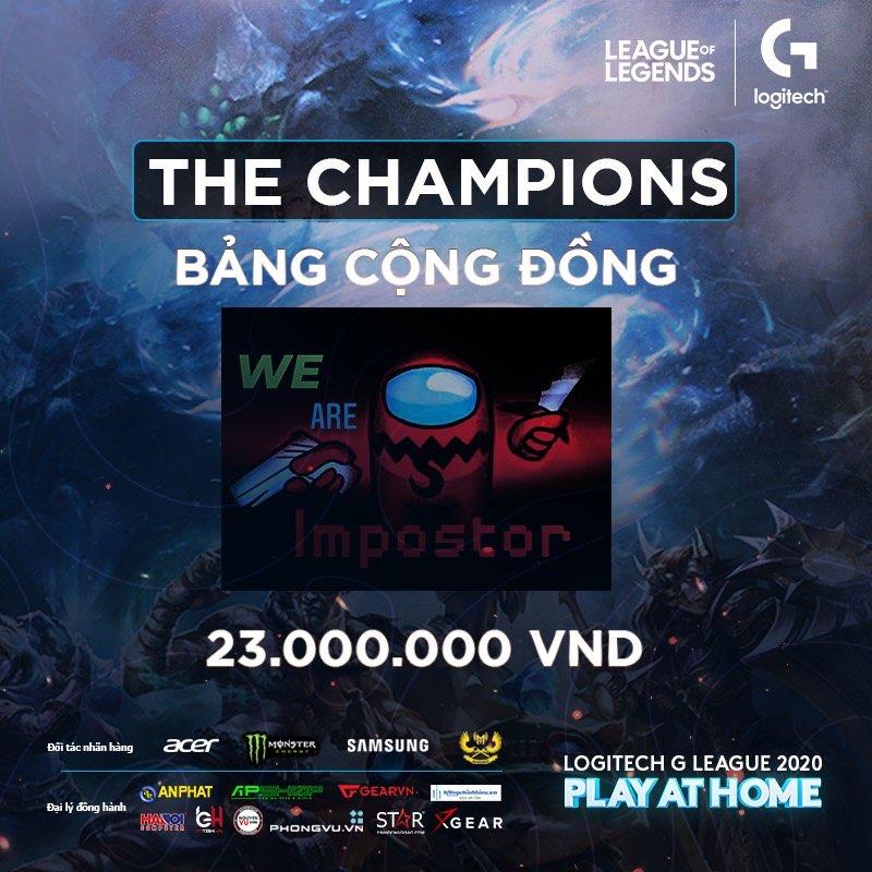 Logitech G League 2020 - Puppies Esports và We Are Impostors vô địch