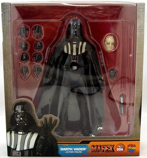 Star Wars 6 Inch Action Figure Mafex Series Darth Vader No 6