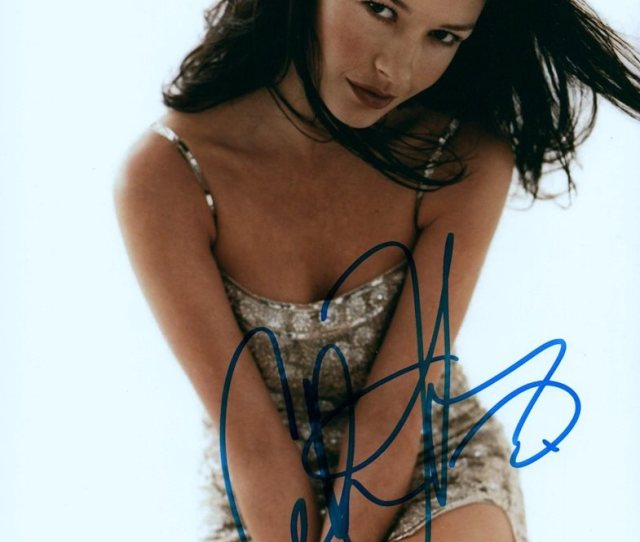 Catherine Zeta Jones Sexy Actress Hand Signed X Auto