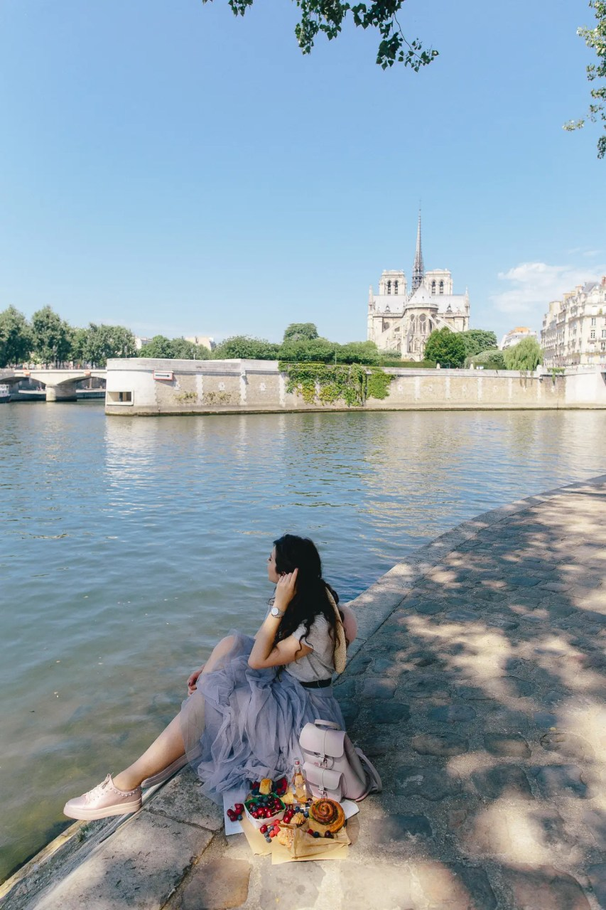 Picnic in Paris blogger notre dame linhbaybong