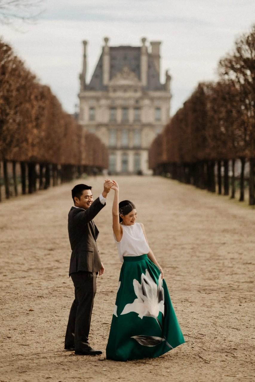 jardin tuileries garden pre wedding photo