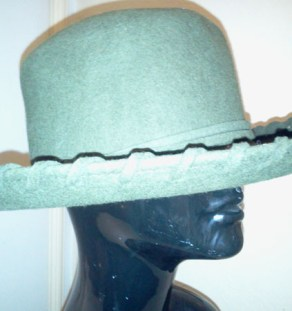 SOLD–Vintage 80 s Stunning Teal Fedora Hat w Attached Scarf – Da ... 29f7e9d89c0b
