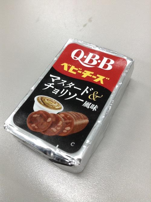 QBB ビールに合うベビーチーズ マスタード&チョリソー風味