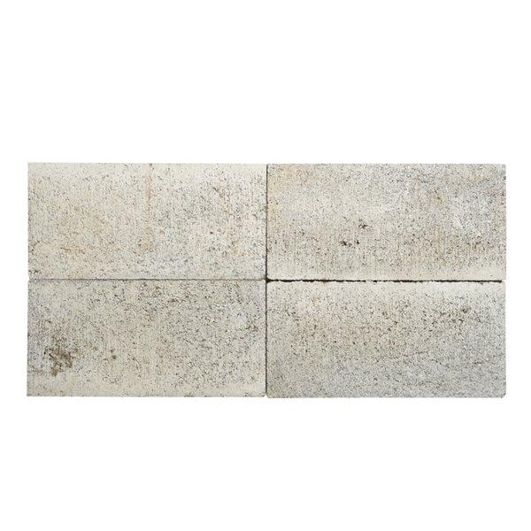 oldcastle 8 in l x 16 in w gray rectangular patio stone