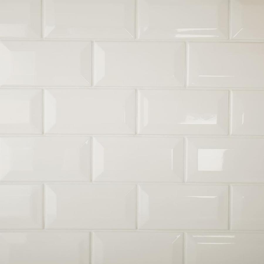 american olean starting line gloss white glazed ceramic wall subway tile common 3 in x 6 in actual 3 in x 6 in
