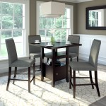 Corliving 36 In Pewter Grey 5 Piece Counter Height Dining Set Lowe S Canada
