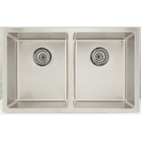 american imaginations undermount double sink 29 x 18 stainless steel