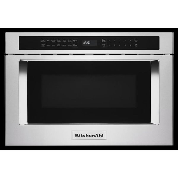 kitchenaid 24 in 1 2 cu ft microwave drawer stainless steel