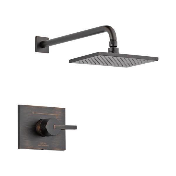 delta ara 17 series bath and shower trim set with hand shower venitian bronze