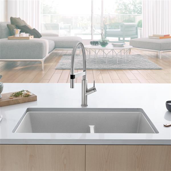 https www lowes ca product kitchen sinks blanco precis u undermount sink concrete gray 330707871