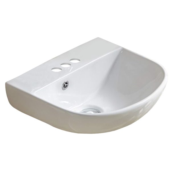 american imaginations wall mount sink 17 3 in white