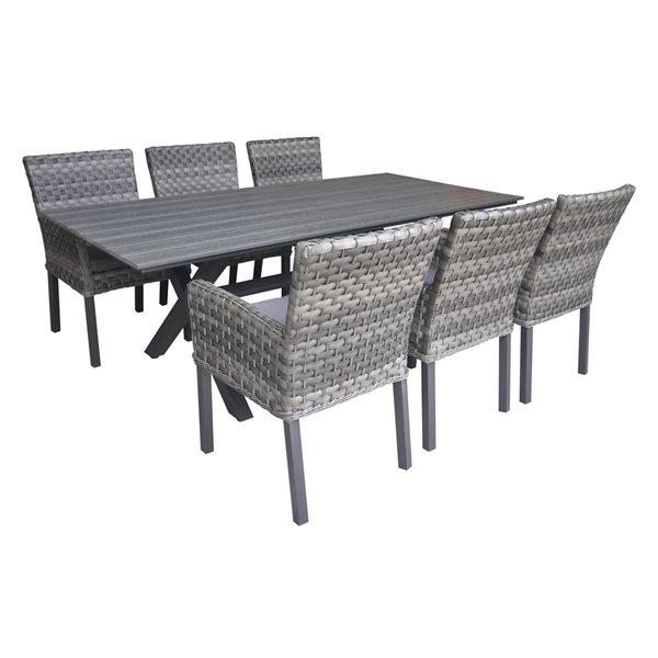 henryka 7 piece patio dining set