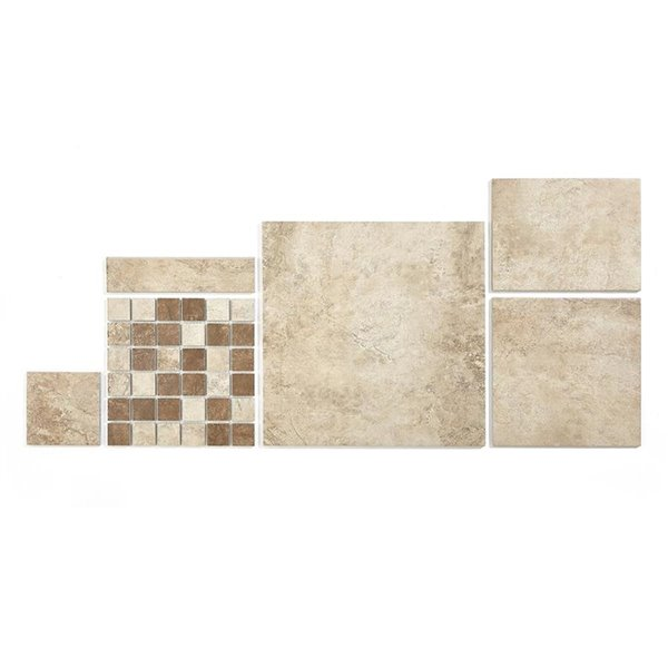 style selections 12 in x 12 in mesa beige porcelain floor and wall tile