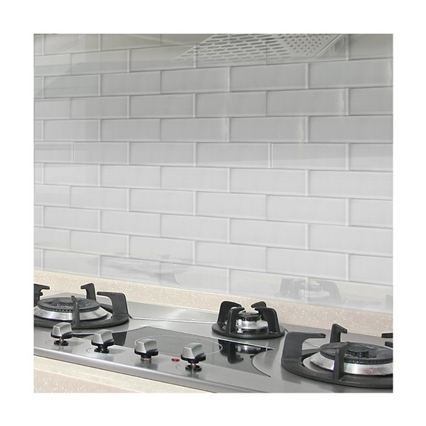 bestview white glossy glass wall subway tile common 12 in x 4 in actual 11 81 in x 3 94 in