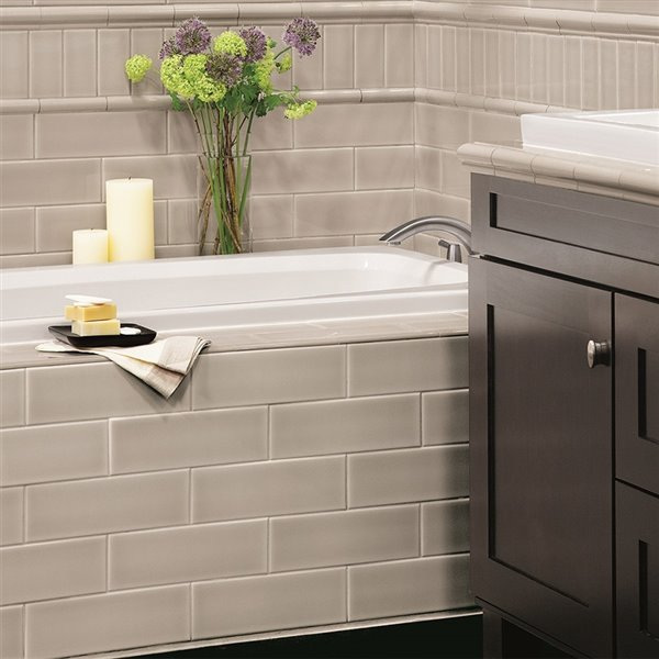 allen roth pearl ceramic wall subway tile common 4 in x 12 in actual 3 93 in x 11 81 in