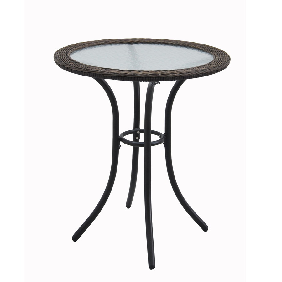 style selections 29 in spruce hills woven round patio bistro table