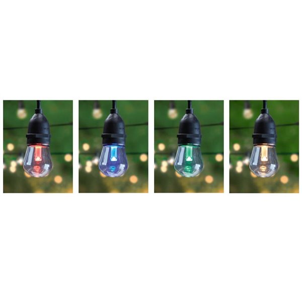 feit electric 15 count colour changing led outdoor string lights