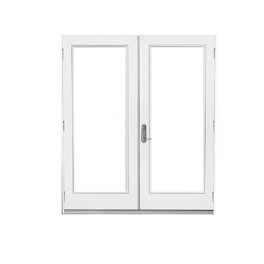 60 in x 80 in clear glass primed steel right hand outswing french patio door