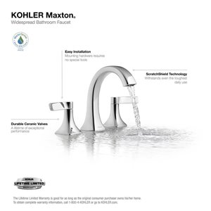 kohler maxton polished chrome 2 handle