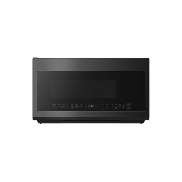 samsung 30 in 2 1 cu ft over the range microwave black stainless steel