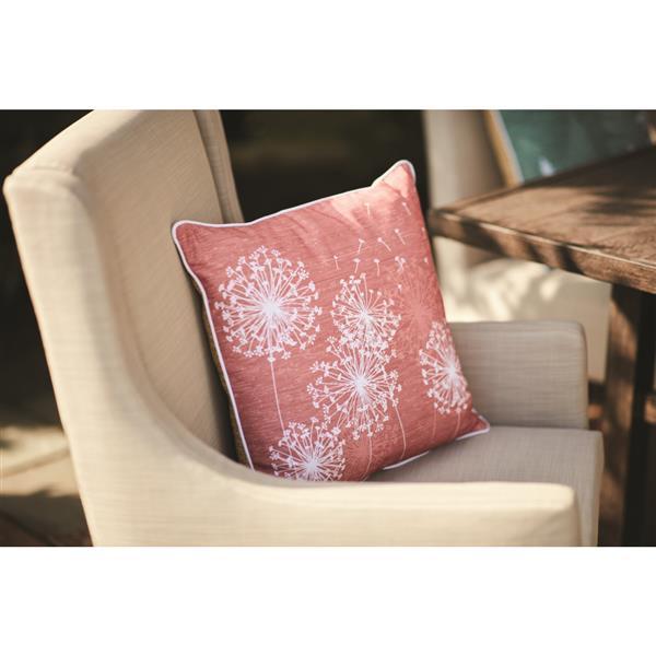 18 in dandelion cotton toss pillow
