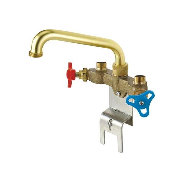 delta two handle laundry faucet rough brass
