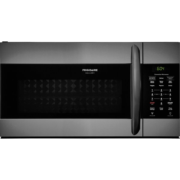 frigidaire gallery 1 5 cu ft over the range convection microwave with sensor cooking fingerprint resistant black stainless steel
