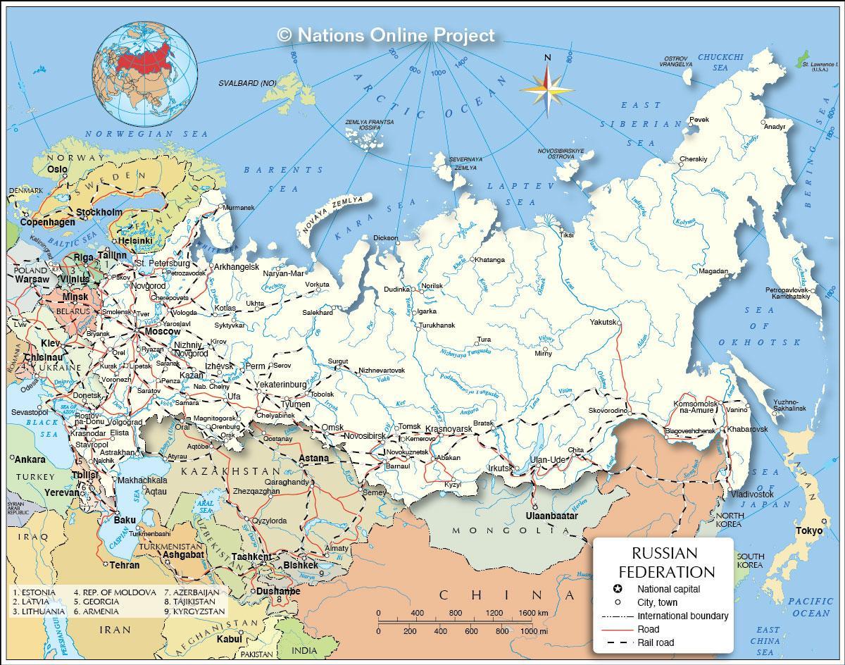 Lande Der Gr Nser Op Til Rusland Kort