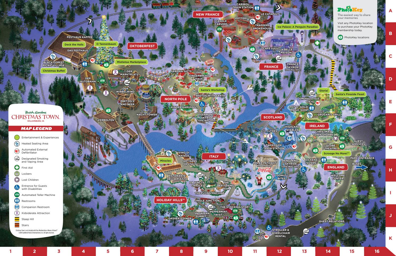 christmas town busch gardens map - Christmas Town Busch Gardens Tickets