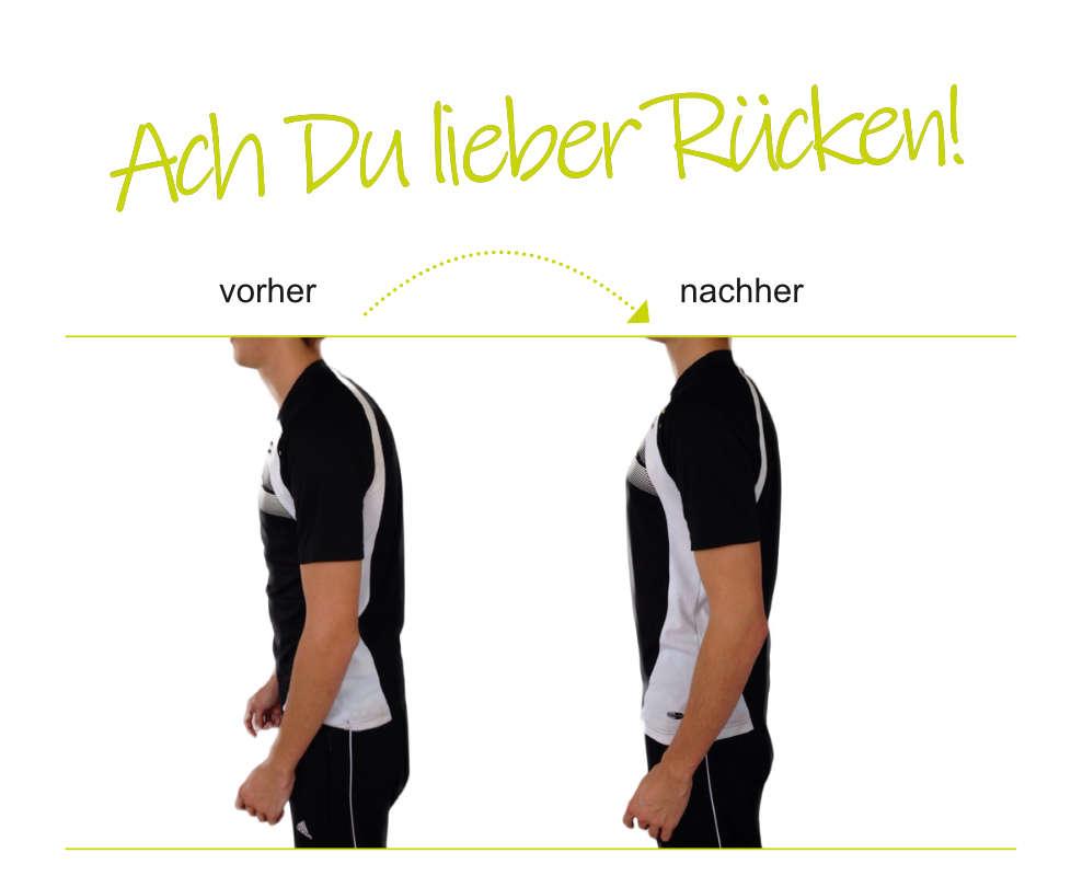 Aufrichten der Wirbelsäule mit der BALLance Therapie Methode. Auch bei Rückenschmerzen.