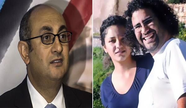 """في عيد ميلاد """"التنين البمبي"""".. خالد علي لـ علاء عبد الفتاح وسناء سيف: كل سنة وأنتم أحرار"""