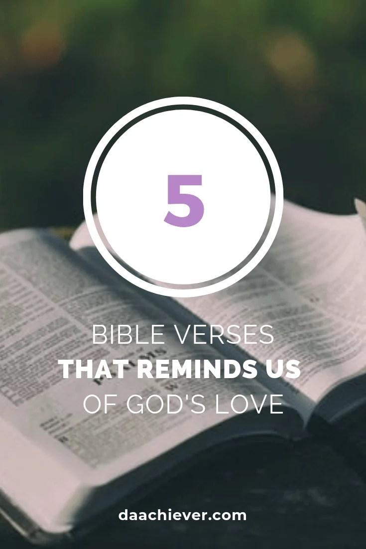 Five Bible Verses That Tells God's Love