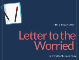 Open letter to the worried