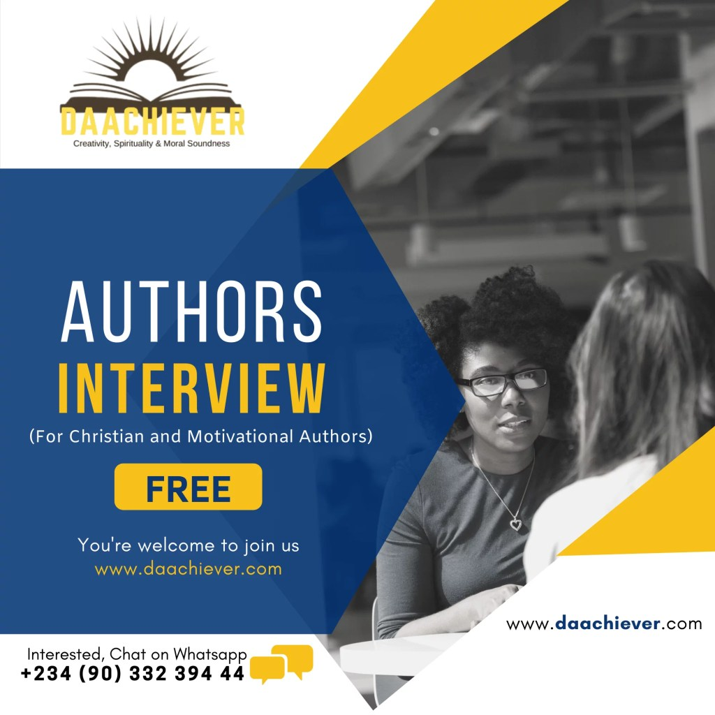 Author's Interview on Daachiever Blog