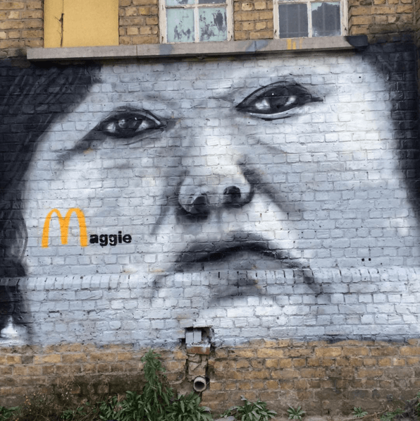 Un graffiti à l'effigie de Maggie De Block