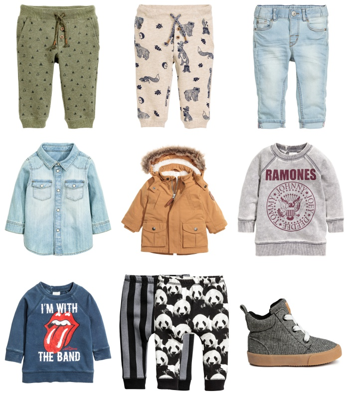 Collage kinderkleding H&M