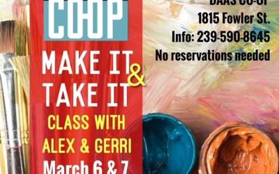 Make It & Take It Art Classes with Alex & Gerri