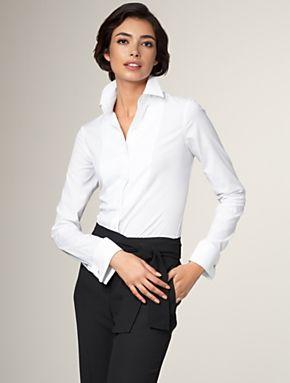 Blusa cuello formal para mujeres